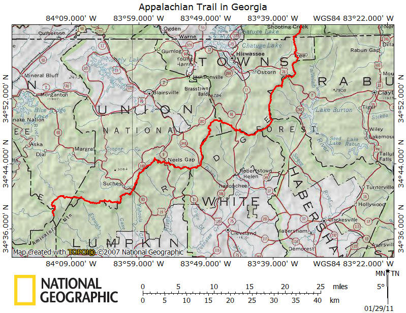 Appalachian Trail in Georgia on