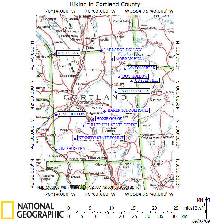 Lime Hollow Nature Center Map
