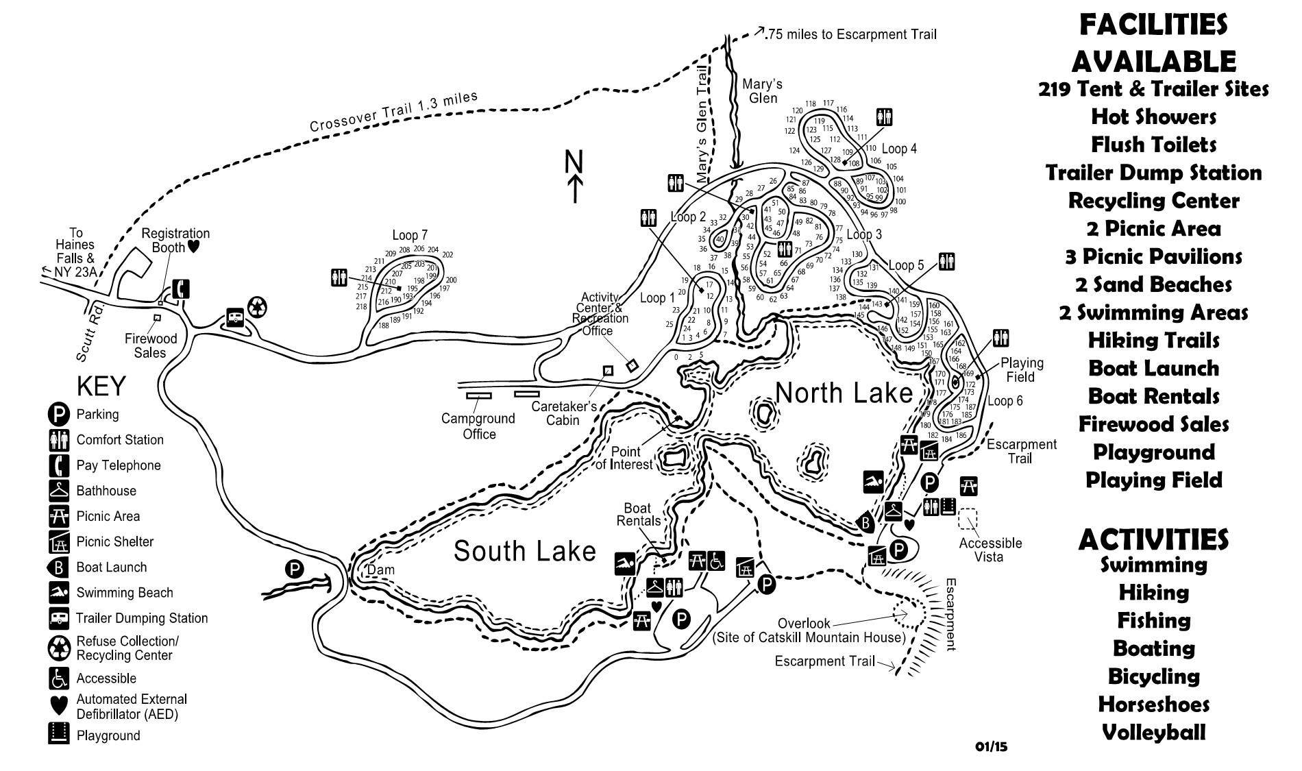 north south lake map North South Lake Campground north south lake map