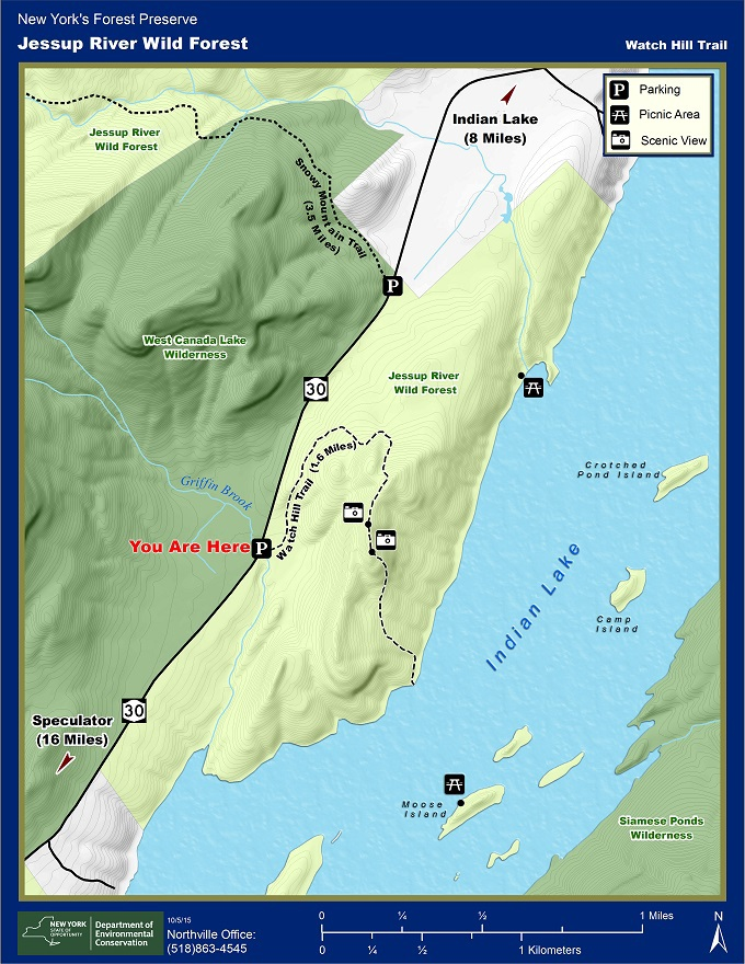 Witch Hill Trail Map