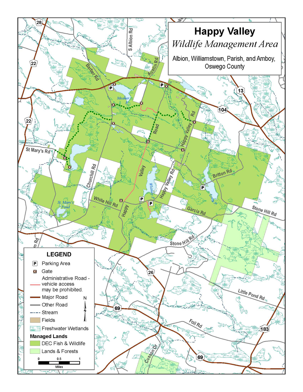 Happy Valley Wildlife Management Area Map