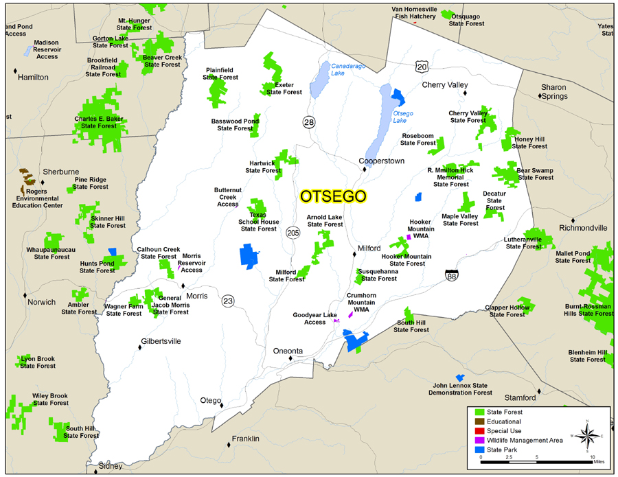 map of Otsego County